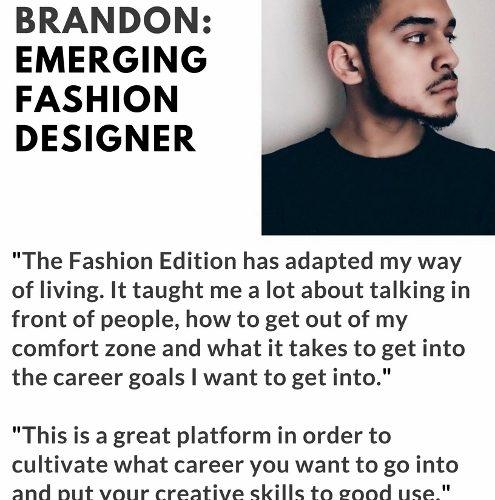 Fashion Edition graduates Quotes. Brandon (495x640)